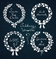 Wedding wreaths vector image