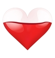 Container Heart with blood-filled vector image