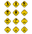 set of baby on board signs with baby symbol in vector image