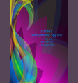 abstract colorful elegant waves floral pattern vector image vector image