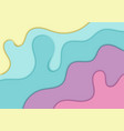 abstract pastels color paper cut style background vector image