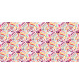 abstract seamless colorful floral pattern vector image