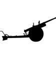 anti aircraft artillery vector image
