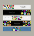 banners design abstract circles vector image vector image
