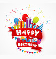 Birthday celebration element vector image vector image