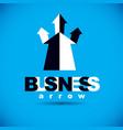 business financial trend upward arrow business vector image