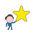 businessman character walking and holding star vector image vector image