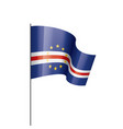 cape verde flag on a white vector image vector image