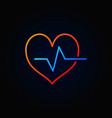 cardiac cycle colored outline icon bright vector image vector image