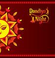 celebrate navratri festival greeting card design vector image