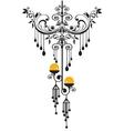 chandelier silhoeutte vector image vector image