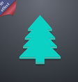 Christmas tree icon symbol 3D style Trendy modern vector image