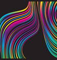 colorful background with wavy gradient lines vector image vector image