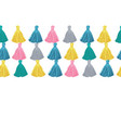 colorful decorative tassels rows horizontal vector image