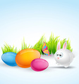 colorful easter vector image vector image