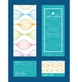 colorful horizontal ogee vertical frame vector image
