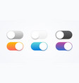 colorful on and off toggle switch buttons vector image vector image