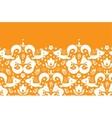 Cute geometrical foxes horizontal border seamless vector image vector image