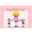 Cute Happy Mothers Day Card vector image