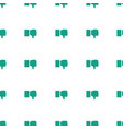 dislike icon pattern seamless white background vector image vector image