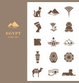 egyptian icon set for a logo website design vector image