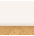 empty room with wall and wooden floor vector image vector image