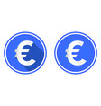 euro round flat icon currency icon vector image vector image