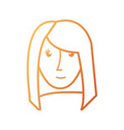 face woman vector image