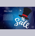 fall sale - modern colorful vector image