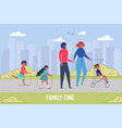 family resting time and togetherness cityscape vector image vector image