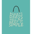 Fashion woman baf with quote vector image vector image