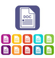 file doc icons set vector image vector image