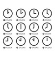 flat design time icons vector image vector image