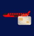 flat icon in shading style aircraft luggage vector image vector image