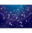 Fragment of Astronomical Celestial Atlas vector image vector image