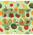 fruit salad decoration vector image