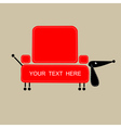 Funny dog with shape of sofa for your design vector image vector image