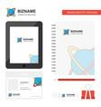 globe business logo tab app diary pvc employee vector image vector image