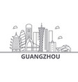 guangzhou architecture line skyline vector image vector image