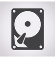 hard disc icon vector image