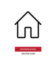 home icon in modern style for web site and mobile vector image vector image