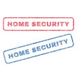 home security textile stamps vector image vector image
