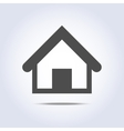 House icon in gray color vector image vector image
