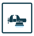 Icon of vise vector image vector image