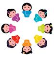 japanese kokeshi dolls vector image vector image