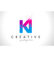 ki k i letter logo with shattered broken blue vector image vector image