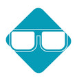 label nice glasses accessory to can see vector image vector image