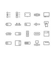 line ui elements icons vector image vector image