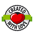 logo heart made with love vector image