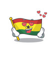 mascot cartoon flag ghana in with in love vector image vector image